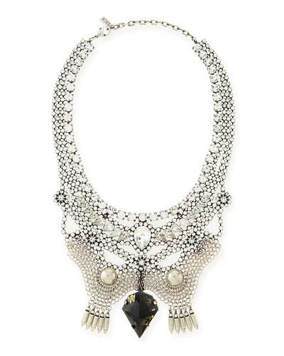 Emma Crystal Bib Necklace
