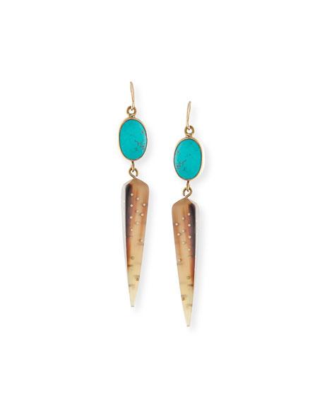 Ashley Pittman Ndani Light Horn Spike Earrings