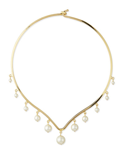 North Pearl Collar Necklace