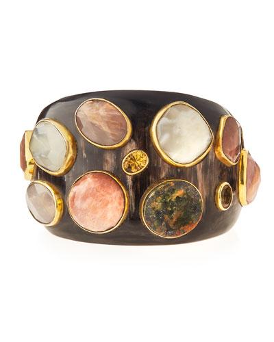 Mawe Dark Horn Cuff Bracelet