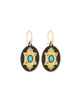 Old World Petite Oval Drop Earrings