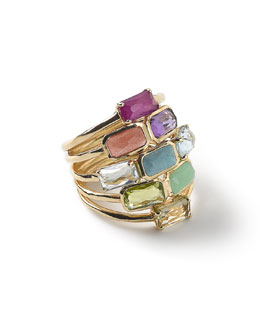 18k Rock Candy Mosaic Cascade Ring