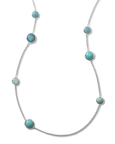 Wonderland Turquoise Station Necklace