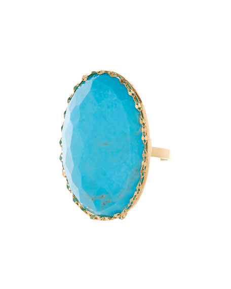 Electra 14k Gold & Turquoise Ring