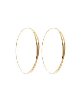 14k Large Twist Magic Hoop Earrings