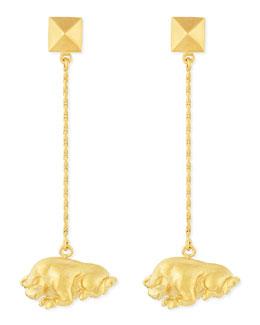 Golden Taurus Zodiac Earrings