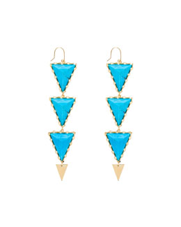 Electra Turquoise Drop Earrings