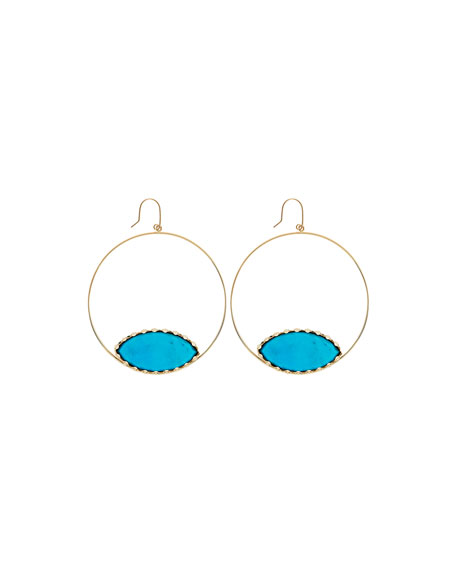 Athena Eclipse Turquoise Earrings