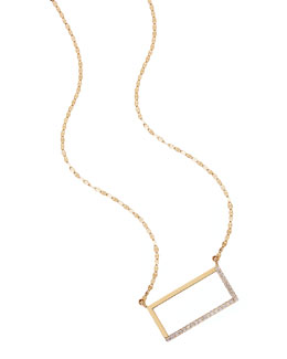 14k Illusion Diamond Pendant Necklace