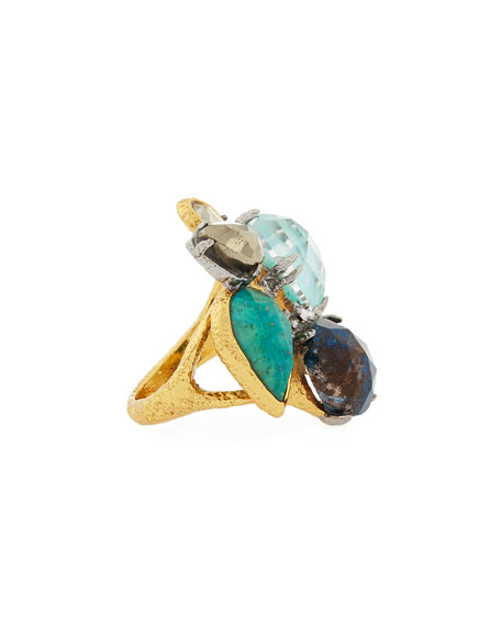 Gilded Muse d'Ore Multi-Stone Spike Ring