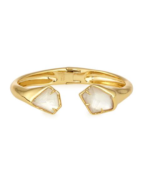 Mother-of-Pearl Golden Hinge Bracelet