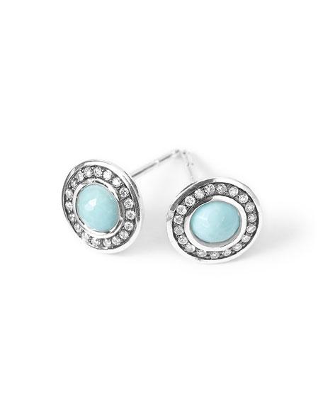 Silver Lollipop Mini Stud Earrings