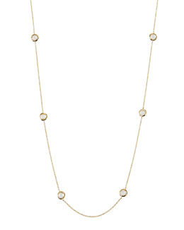 18k Lollipop Mini Stone Station Necklace, 50