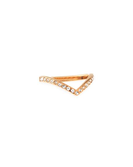 Vita Fede Ultra Mini V Crystal Ring, Rose