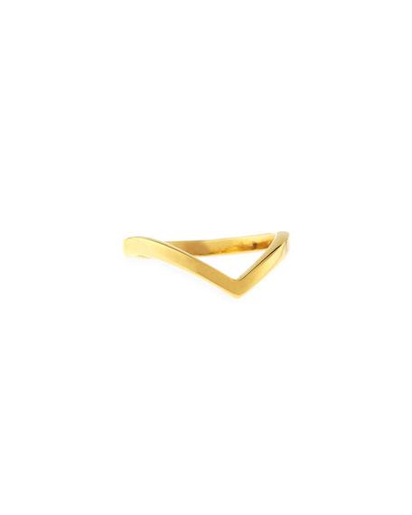 Vita Fede Ultra Mini V Ring, Yellow Golden
