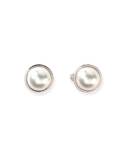 Medium Pearl Stud Earrings