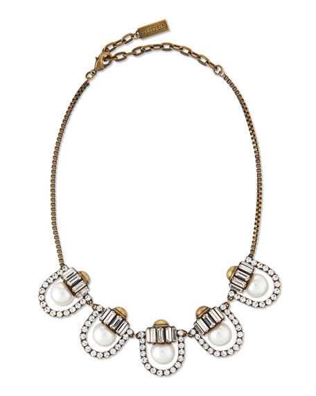 Auden Lana Crystal-Pearl-Station Necklace