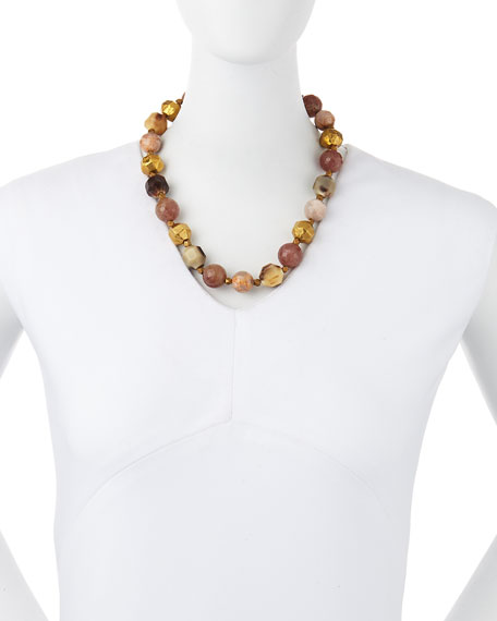 Kamili Mixed Horn Beaded Necklace