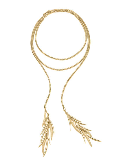 Pave Prickle Lariat Necklace