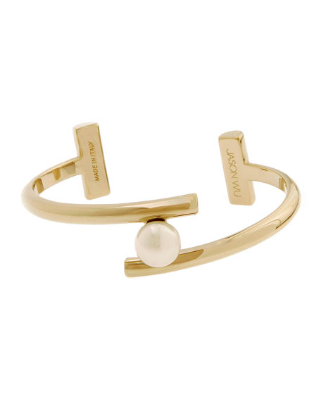Gold-Plated Floating Pearly Bracelet