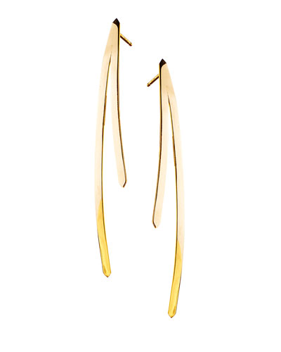 14k Elite Short Bar Reflector Earrings