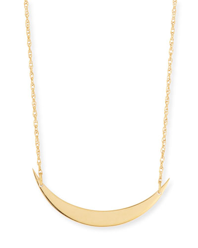 Skylar Horizontal Moon Layered Necklace
