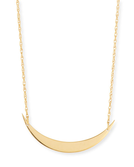 Jennifer Zeuner Skylar Horizontal Moon Layered Necklace