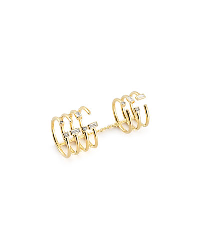 Dia Sol Knuckle Chain Ring