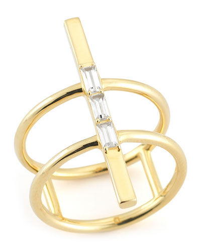Dia Riley Double Bar Ring