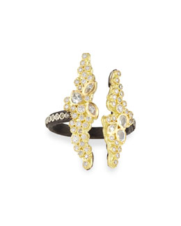 Old World Open Cluster Diamond & Sapphire Ring