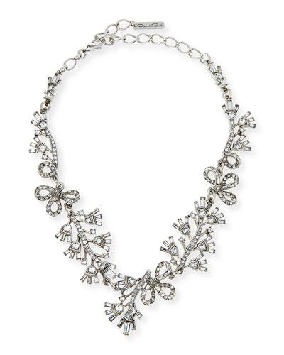 Floral Baguette Crystal Necklace