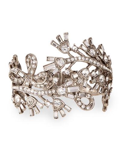Floral Baguette Crystal Bracelet