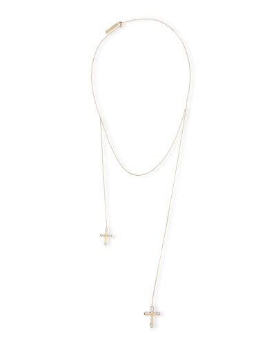 Double-Cross Pearl Necklace