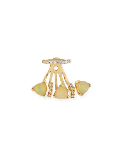 Marta Opal Single Jacket Earring