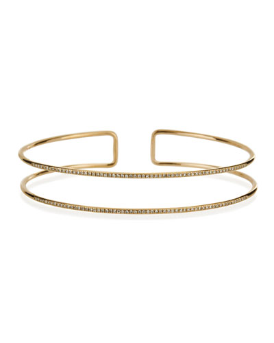 Diamond Double Bangle Bracelet