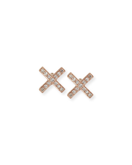 c154505ad EF Collection Diamond X Stud Earrings