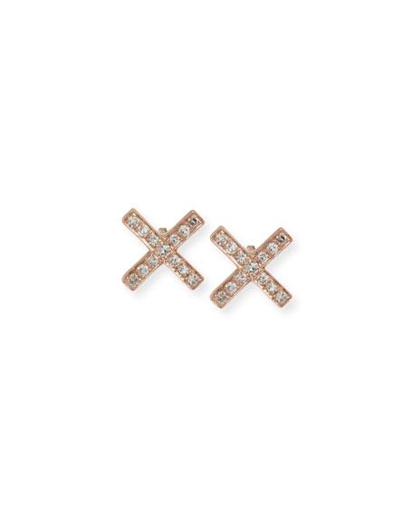 Diamond X Stud Earrings