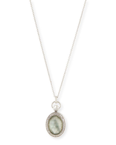 Sterling Silver Petite Doublet Locket Necklace
