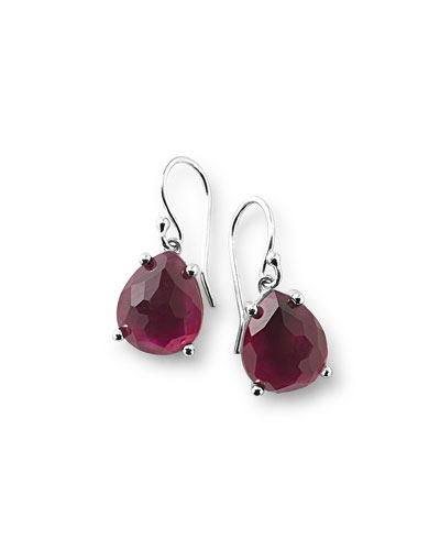 925 Wonderland Pear Drop Earrings, Cherry
