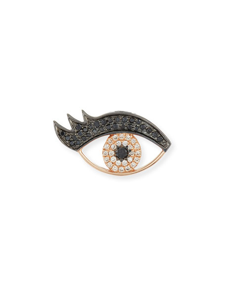 Medium Eye Stud Earring w/Lashes