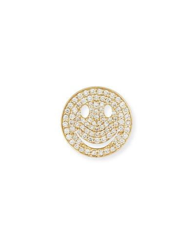 Pavé Diamond Happy Face Earrings