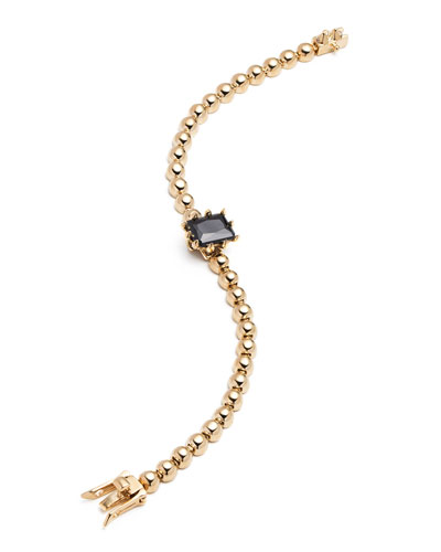 Dome Estate Ball Bracelet, Golden/Jet