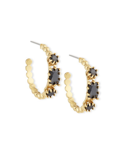 Crystal Estate Hoop Earrings