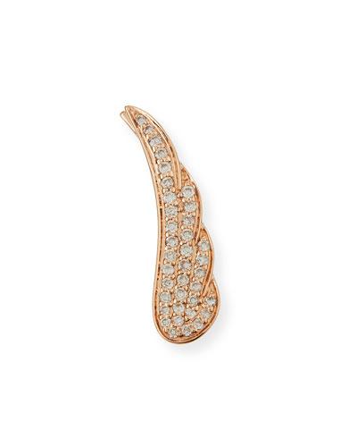 14K Rose Gold Pavé Diamond Wing Earring