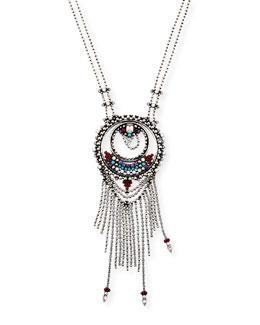 Camryn Chain Fringe Pendant Necklace
