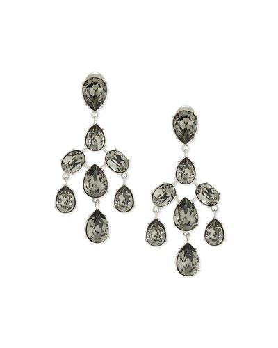 Floating Crystal Chandelier Earrings