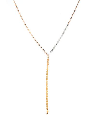 Tri Nude Lariat Disc Necklace