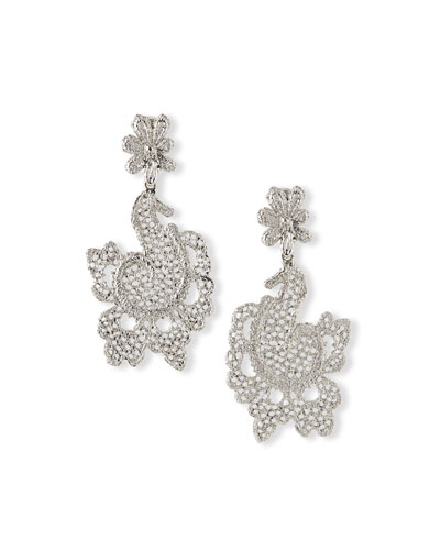 Crystal Lace Statement Earrings