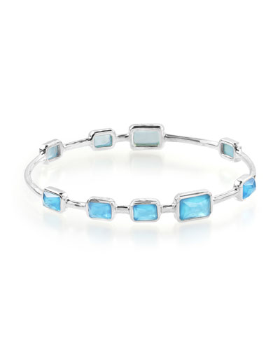 925 Rock Candy Wonderland 9-Stone Bangle in Ice