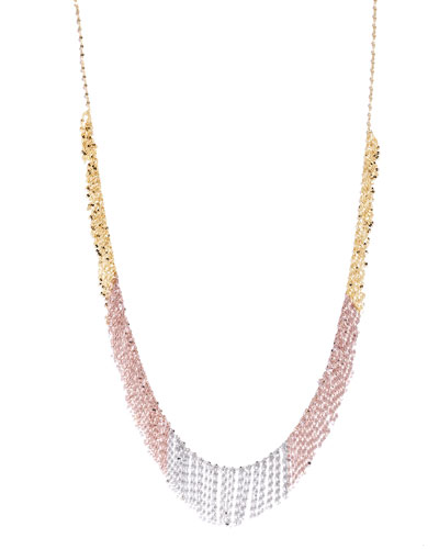Three-Tone Fringe Necklace